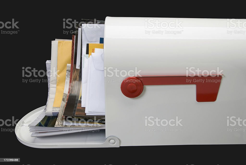 Mailbox and Mail—side royalty-free stock photo