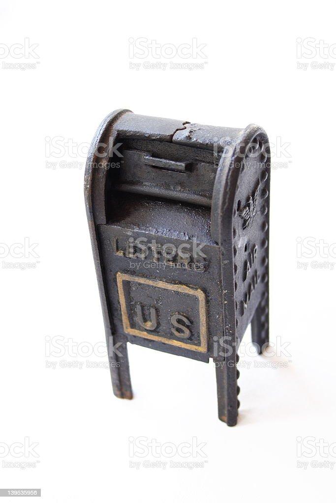 Mailbox Antique Toy stock photo
