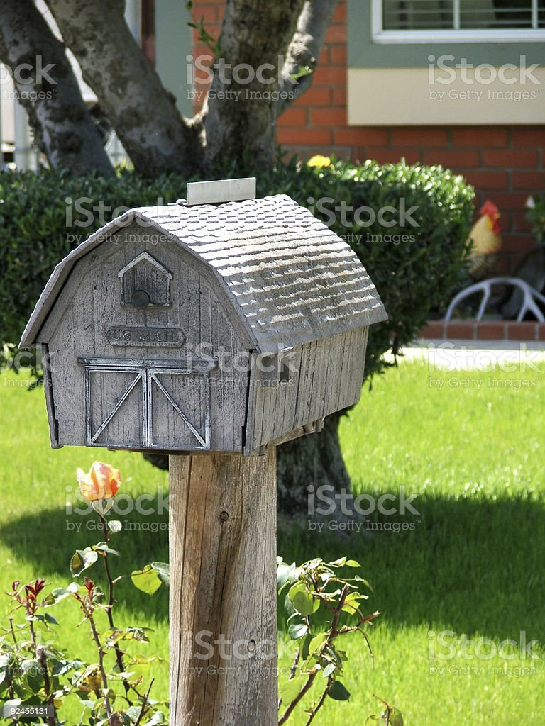 Mailbox- Brown Barn royalty-free stock photo