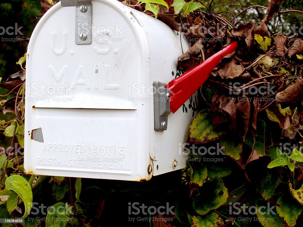 Mailbox Delivery royalty-free stock photo