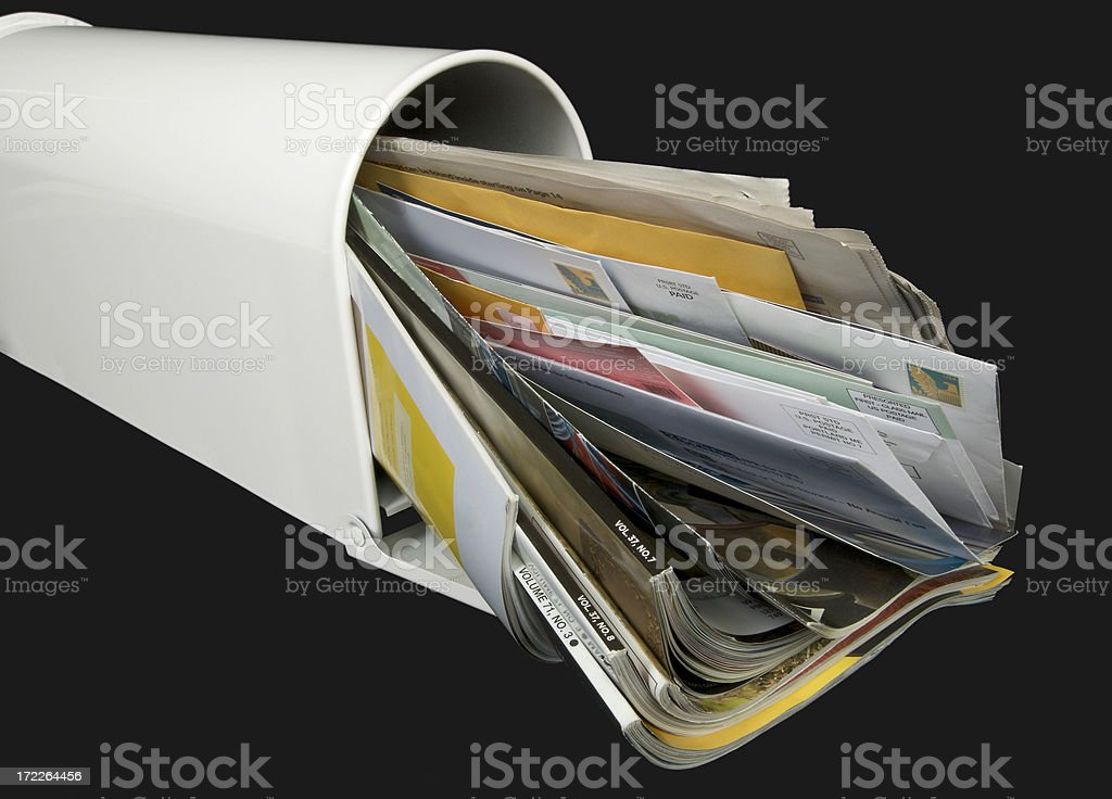 Mailbox Full of Mail stock photo