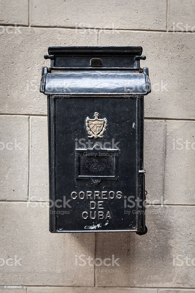 Mailbox in Havana, Cuba stock photo