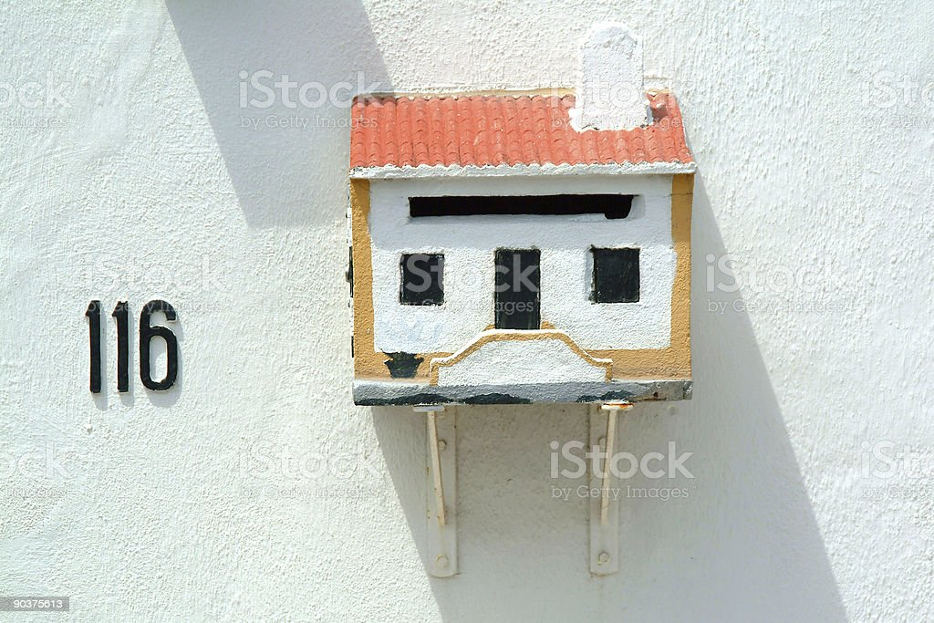 Mailbox in house stock photo
