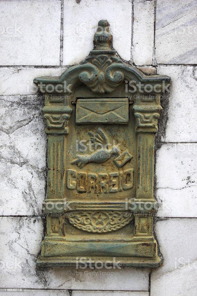 Mailbox, in portuguese stock photo