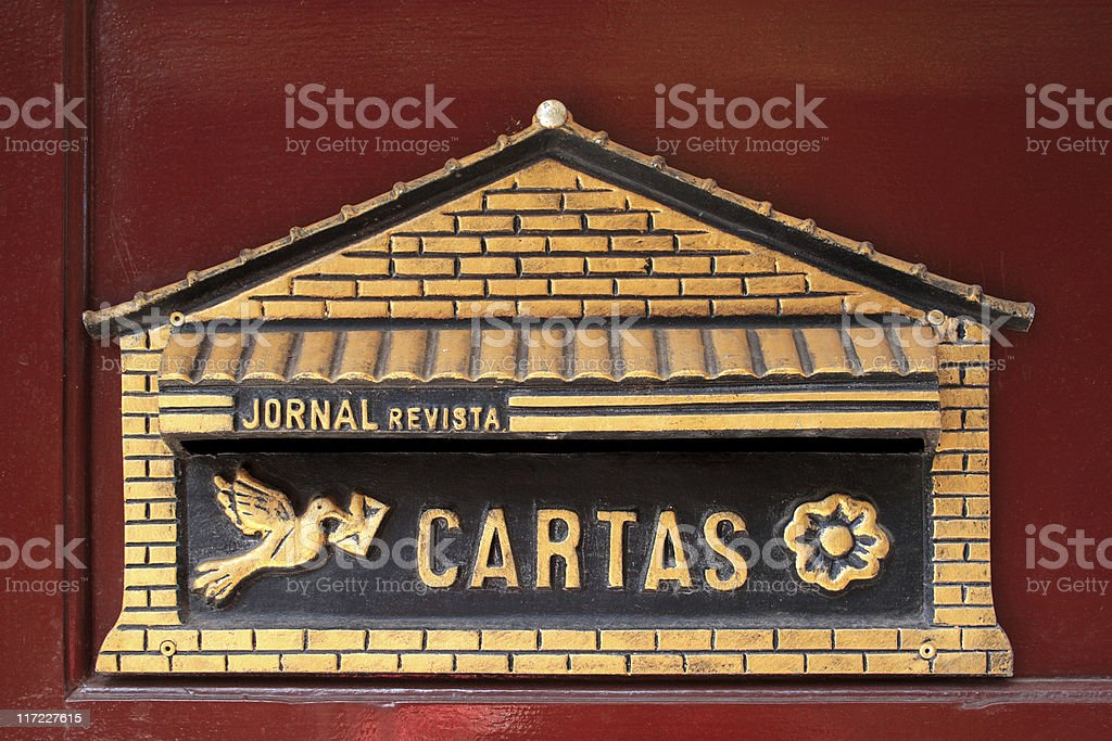 Mailbox, in portuguese royalty-free stock photo