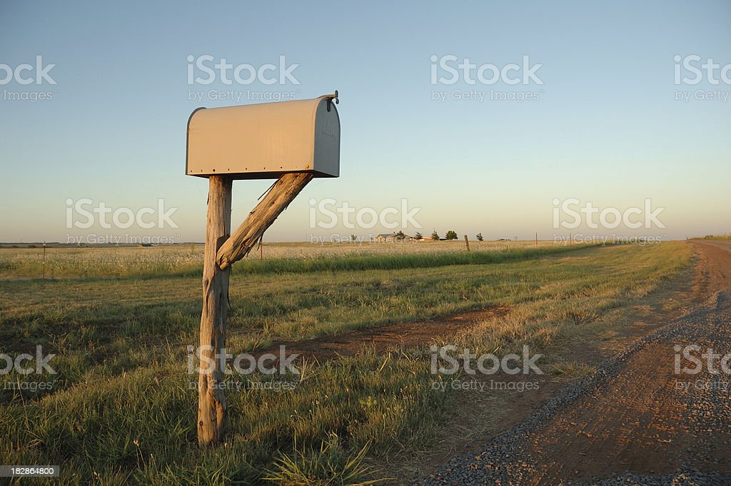 Mailbox in the Country stock photo