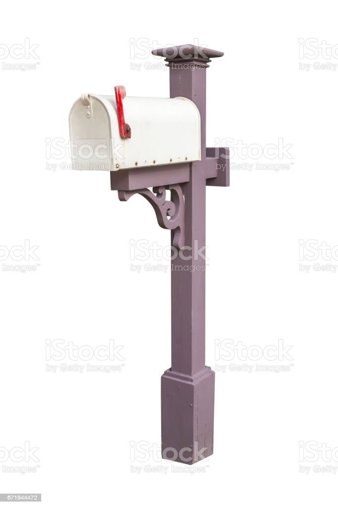 Mailbox isolated on white background with clipping path stock photo