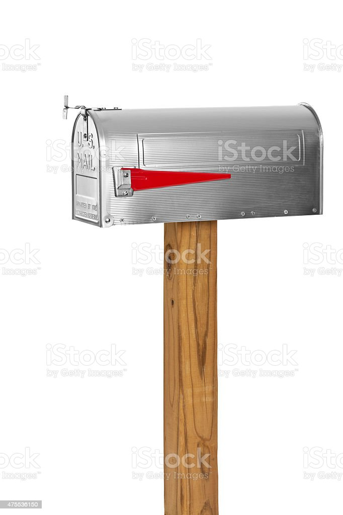 Mailbox Isolated On White stock photo