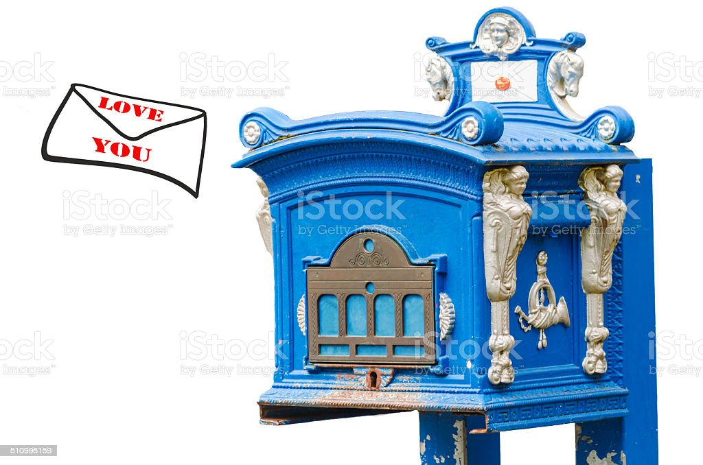 Mailbox, Love Letter, Love you stock photo