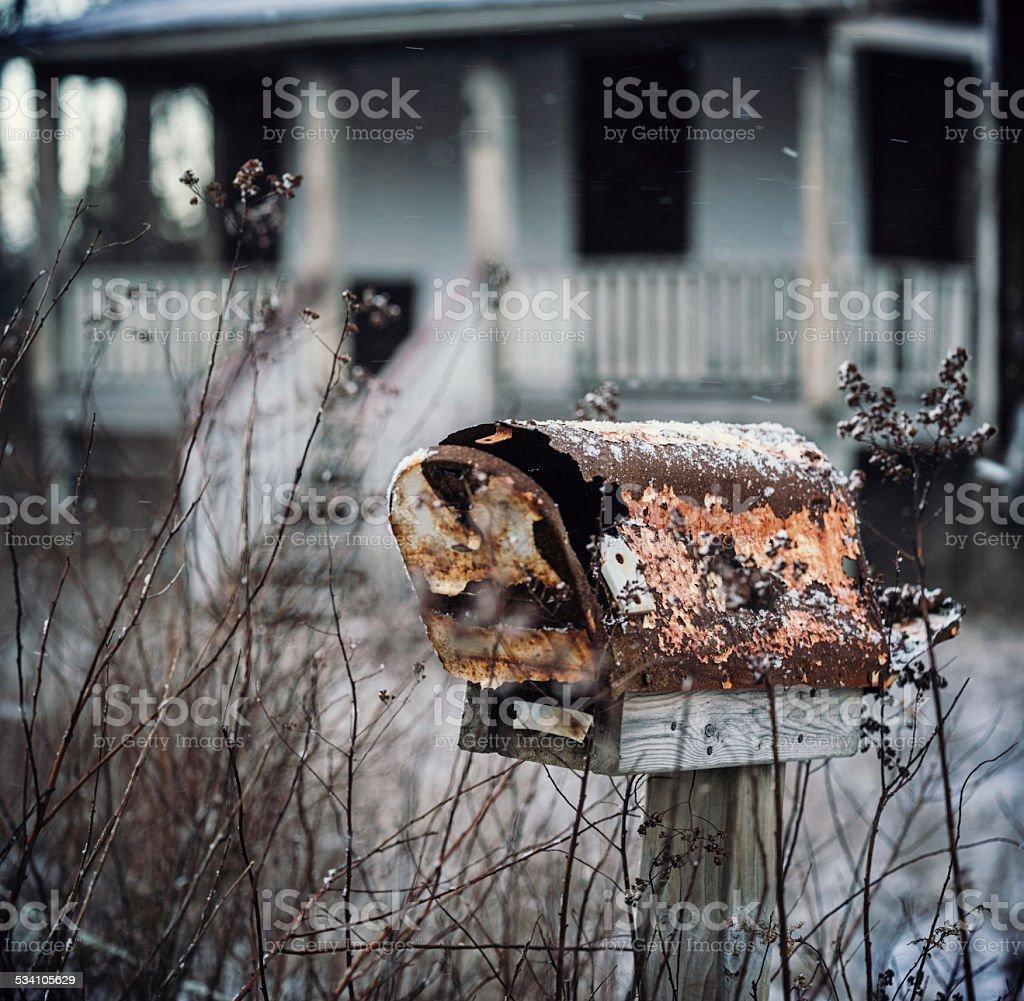 Mailbox of Rust stock photo