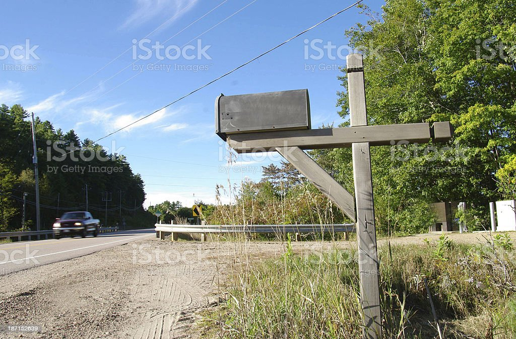 Mailbox on countryroad royalty-free stock photo