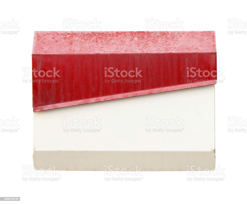 mailbox on white wall royalty-free stock photo