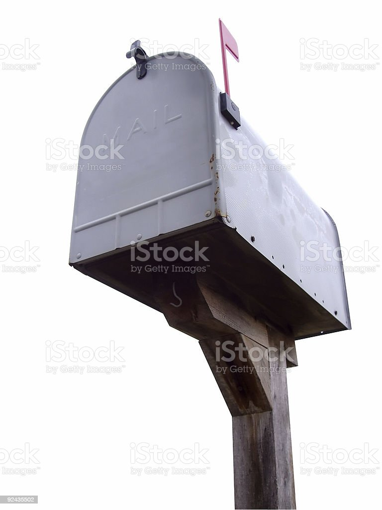 Mailbox Outline royalty-free stock photo