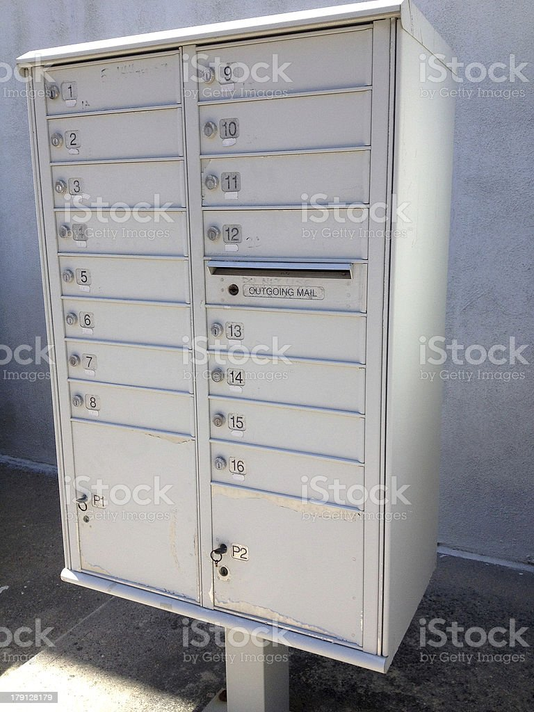 Apartment Building Mailboxes apartment building mailboxes royaltyfree stock photo and design