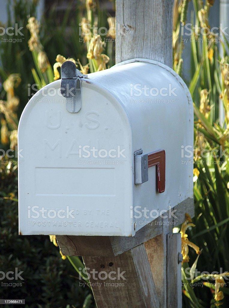 Mailbox- Plain White royalty-free stock photo