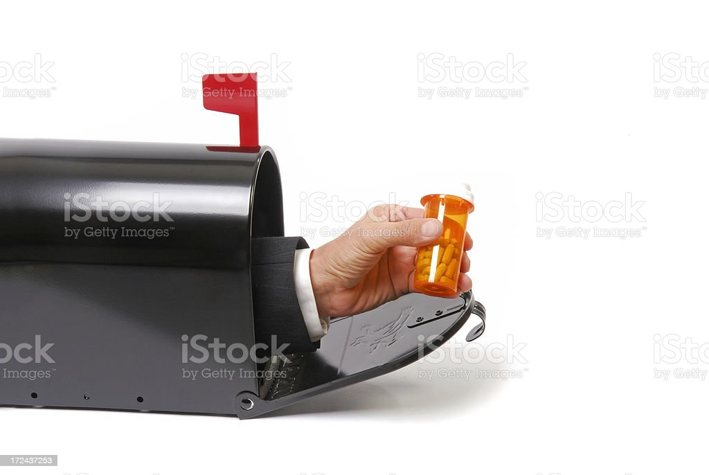 Mailbox Prescription stock photo