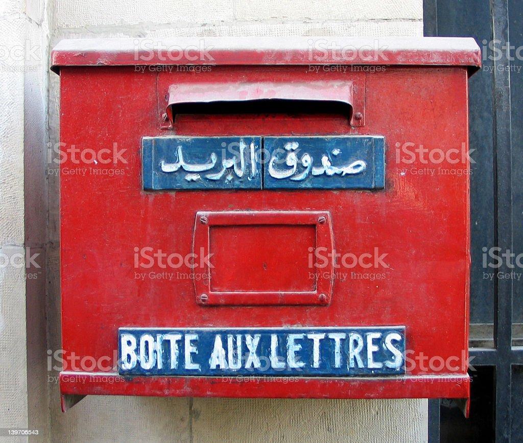 Boîte aux lettres rouge photo libre de droits