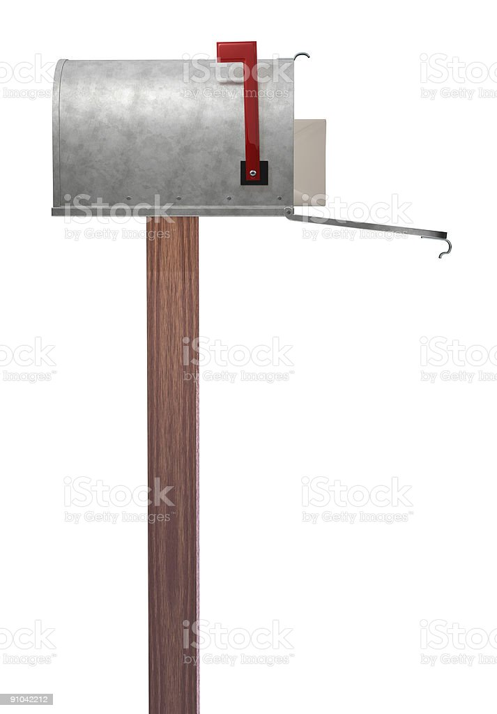 Mailbox side view vector art illustration