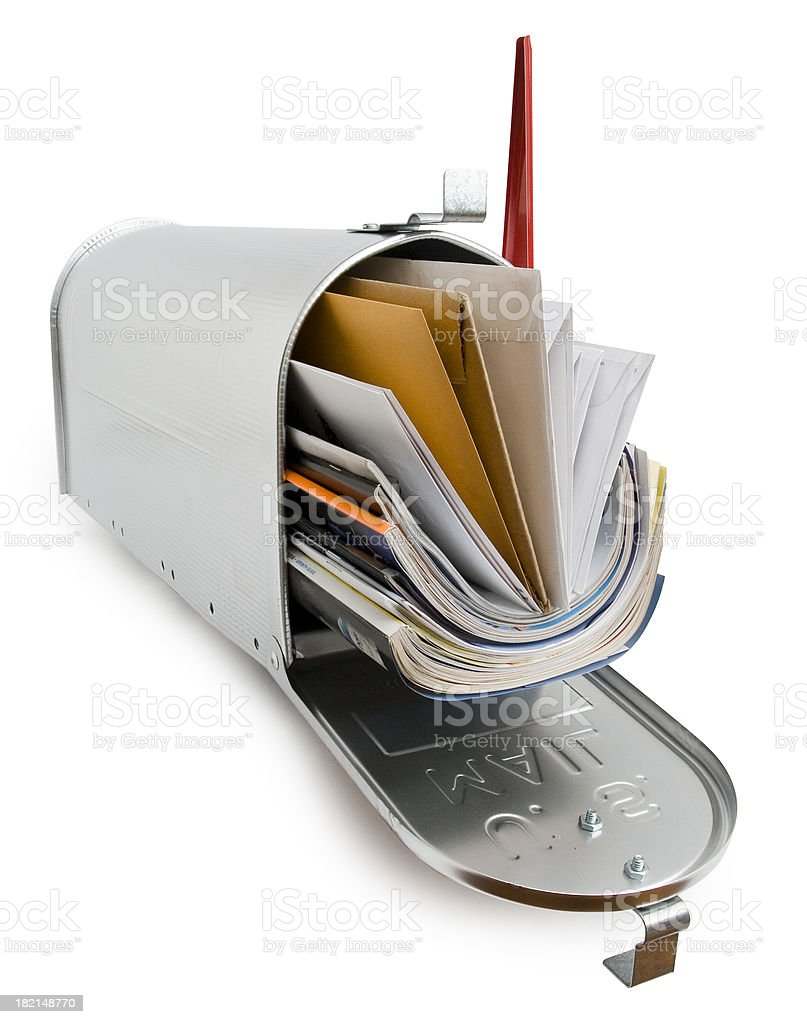 Mailbox with clipping path stock photo