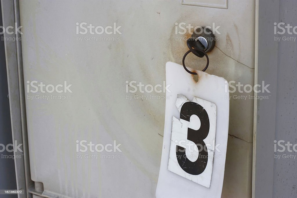 Mailbox with old number 3 on it royalty-free stock photo