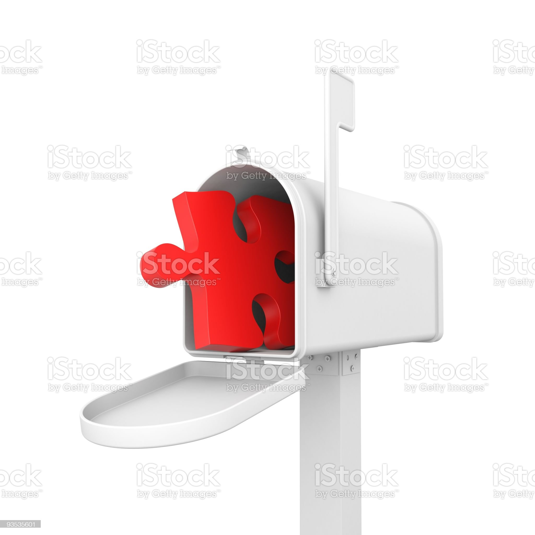 Mailbox with puzzle royalty-free stock photo