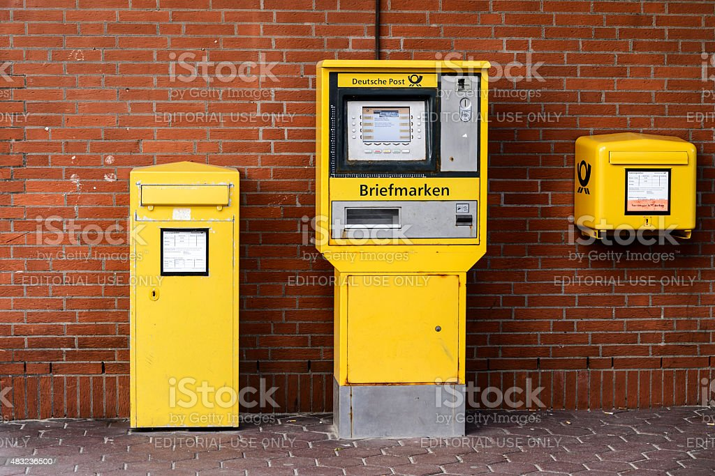 Mailboxes Deutsche Post stock photo