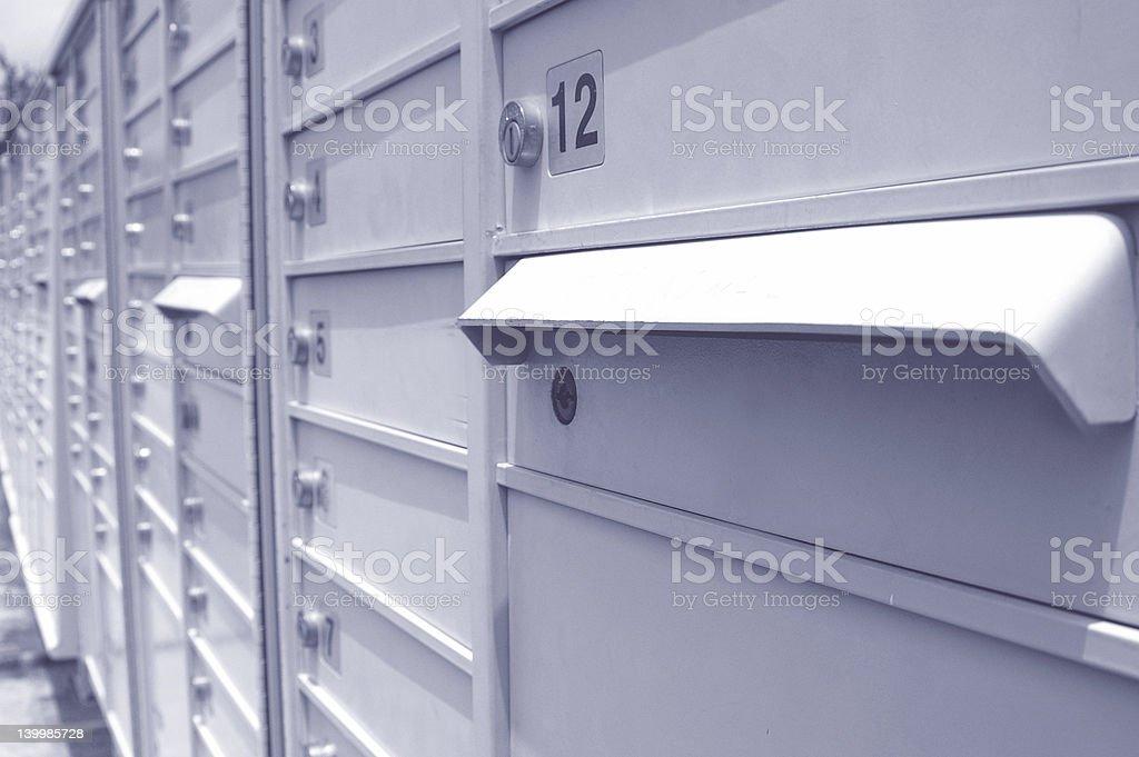 Buzones en una fila foto de stock libre de derechos