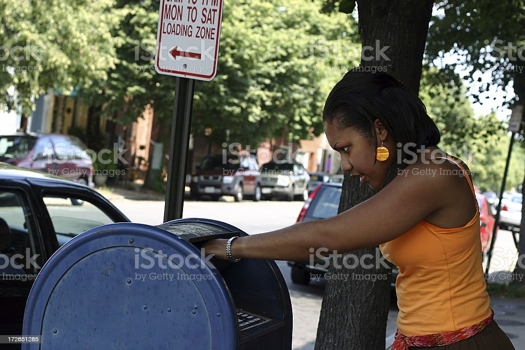 Mailing a Letter royalty-free stock photo