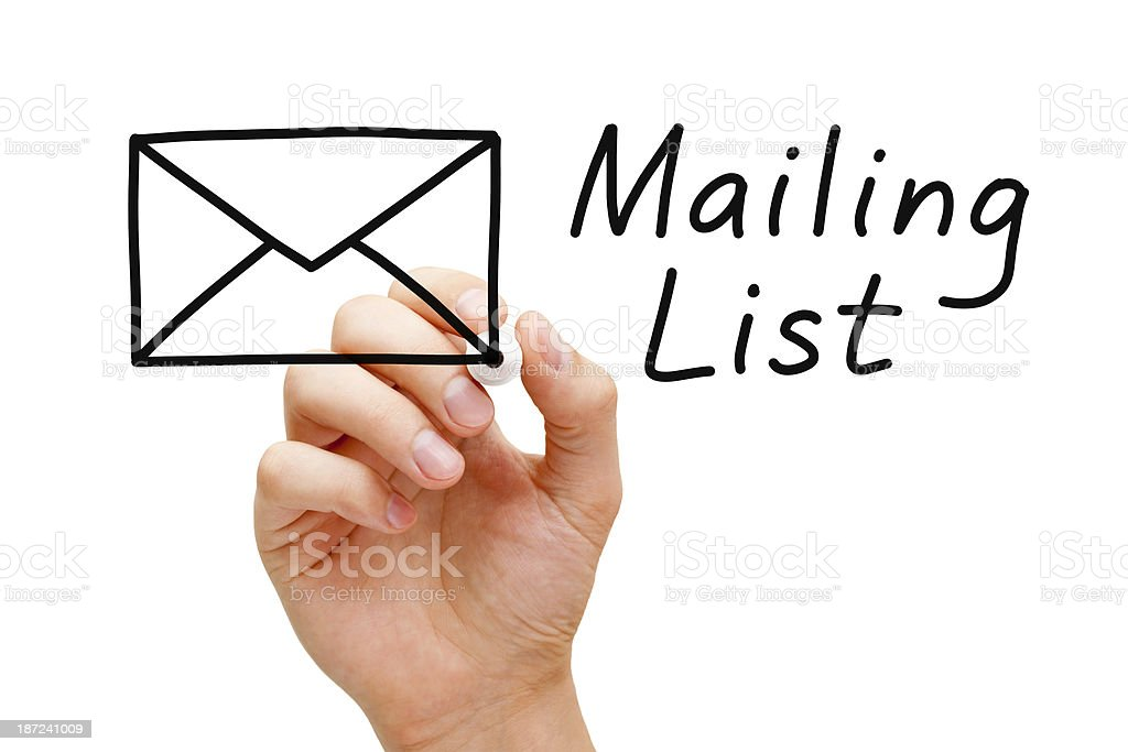 Mailing List Concept stock photo