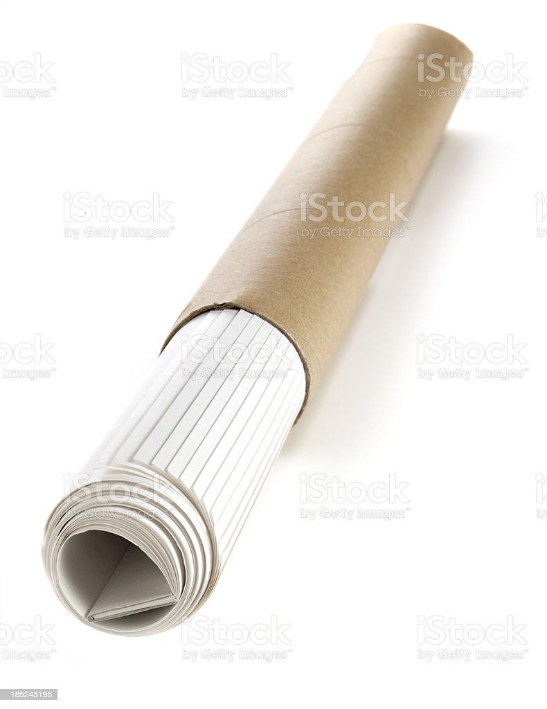 Mailing Tube in Calendar stock photo