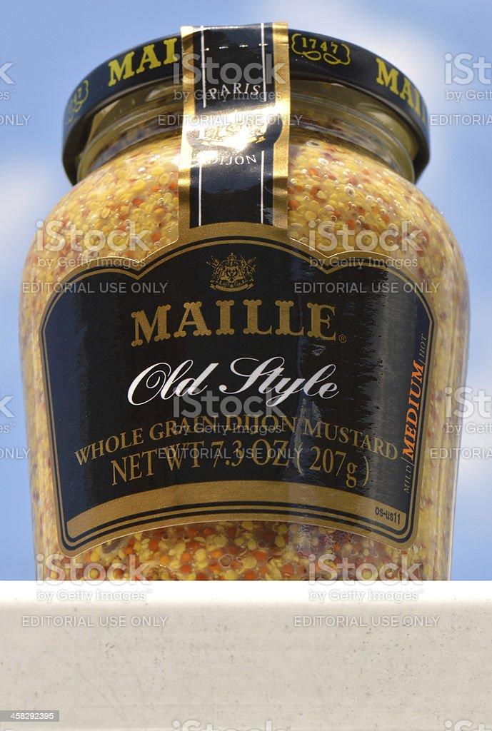 Maille Old Style Whole Grain Dijon Mustard stock photo