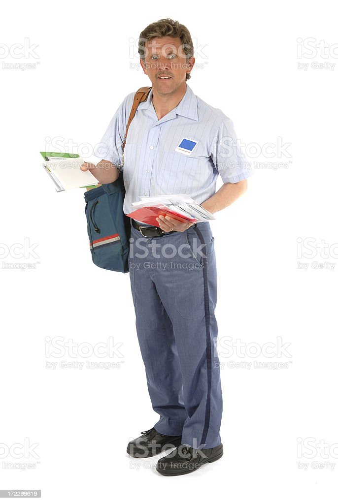 Mailman Letters stock photo