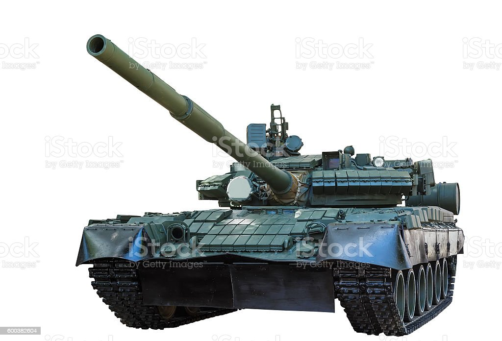 T-90S Main Battle Tank, Russia isolated on white background stock photo