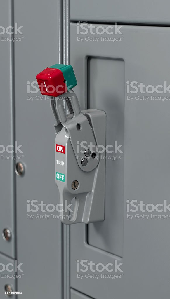 Main Breaker Switch royalty-free stock photo