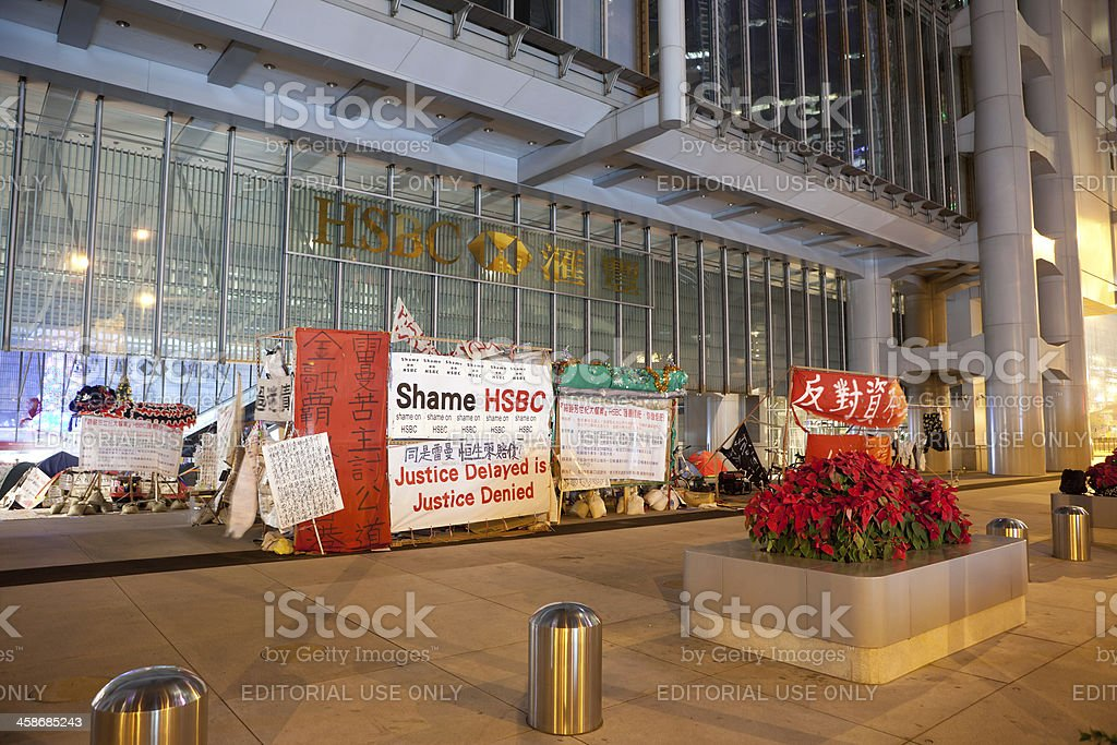 HSBC Main Building in Hong Kong royalty-free stock photo