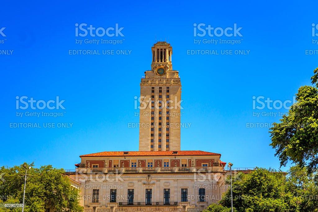 Main Building in UT Austin stock photo