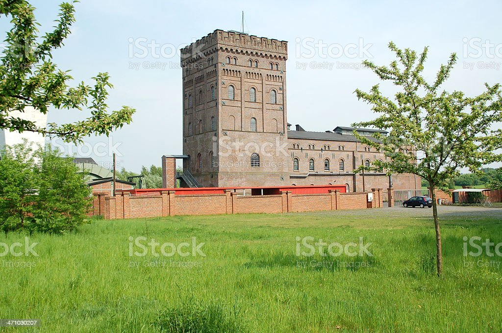 Main Building of a Coal Mine 2 stock photo