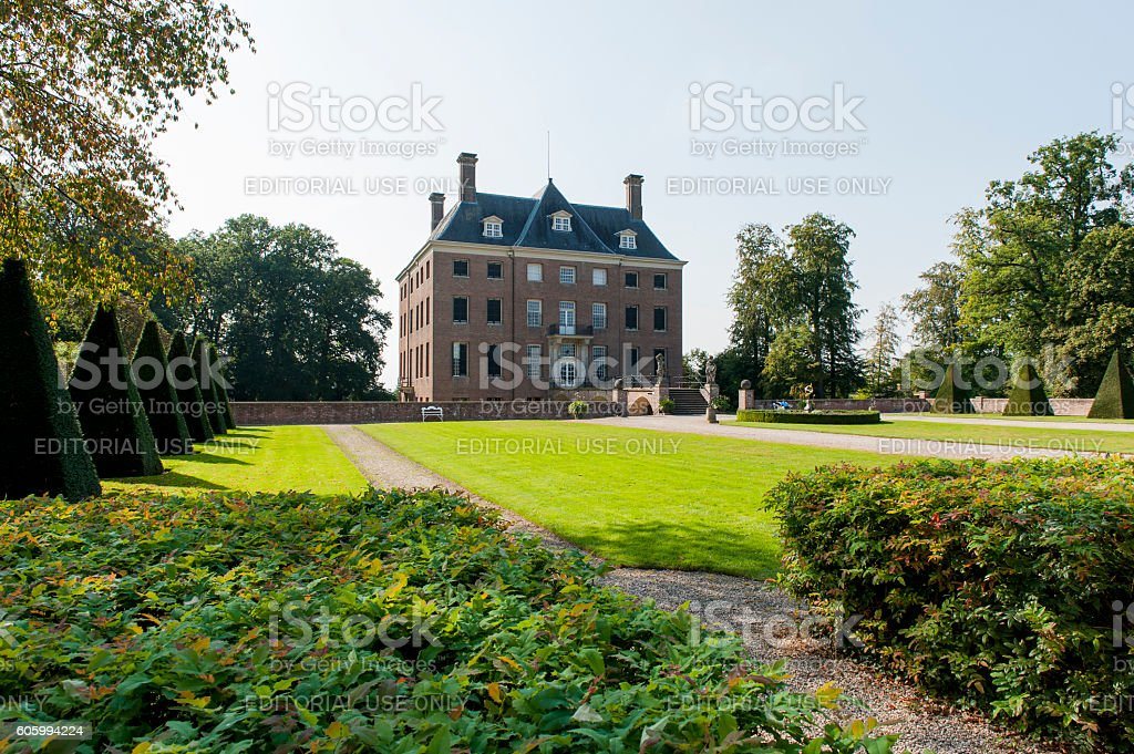Main building of Amerongen castle in The Netherlands stock photo