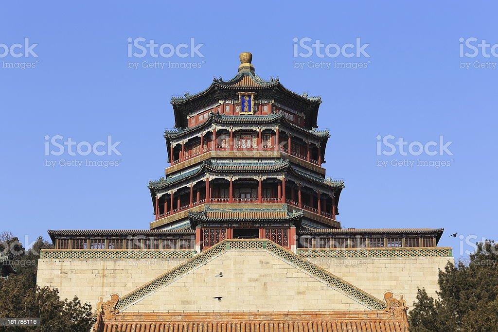 main building of The Summer Palace,China royalty-free stock photo