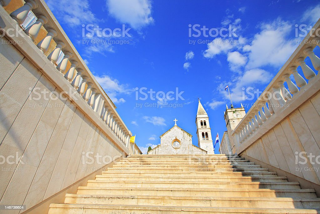 Main cathedral in Supetar, on the island of Brac, Croatia royalty-free stock photo