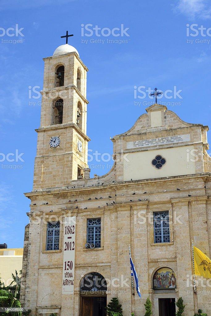 Main church in Chania, Crete royalty-free stock photo