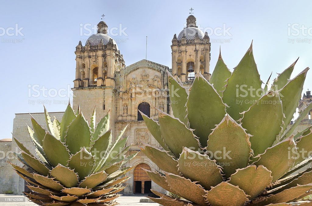 Main church in Oaxaca, Mexico stock photo