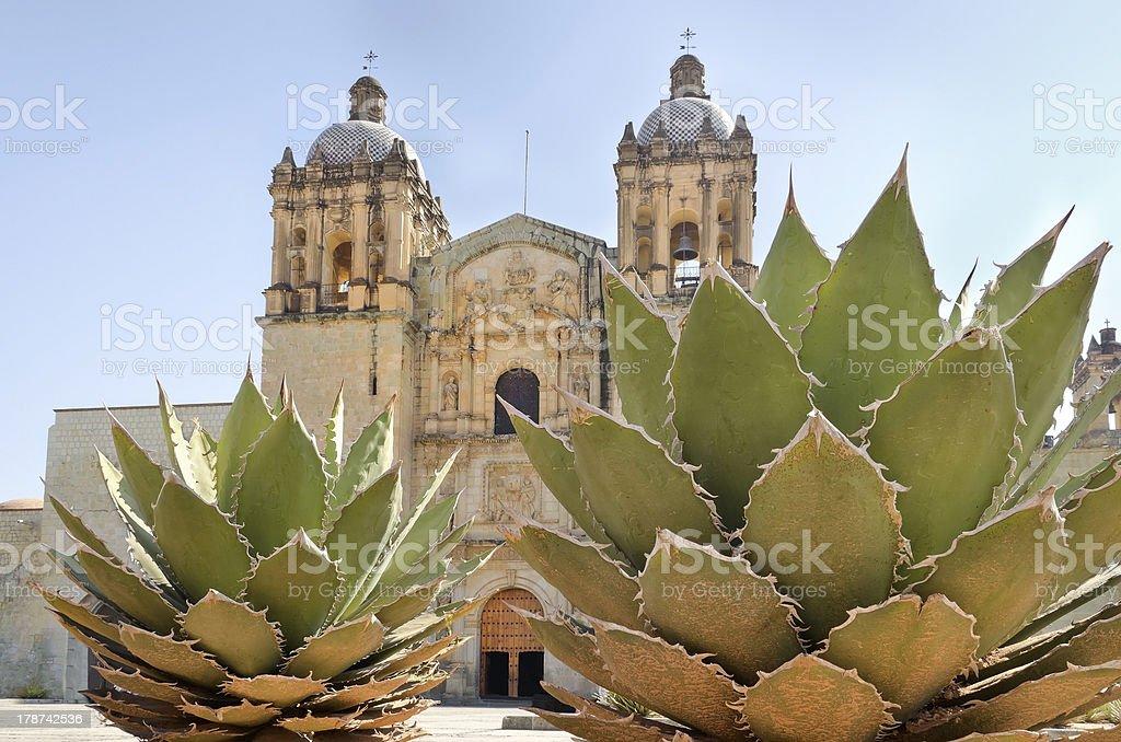 Main church in Oaxaca, Mexico stock photo