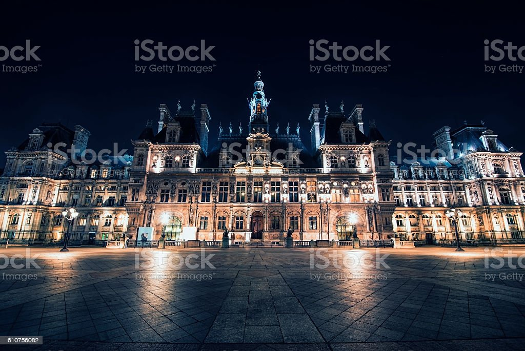 Main city hall in Paris stock photo