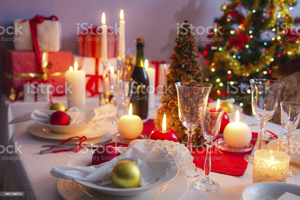 Main course as a Christmas gift royalty-free stock photo