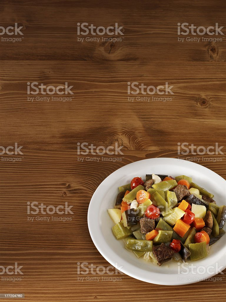 main course on table royalty-free stock photo