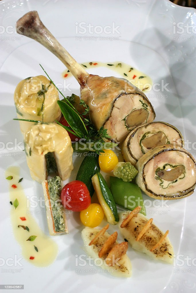 Main course royalty-free stock photo