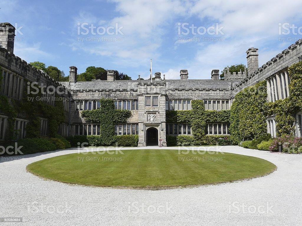 Main courtyard at Lanhydrock Castle royalty-free stock photo