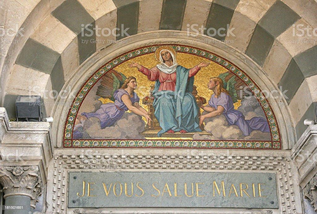 Main door of Notre-Dame de la Garde basilica in Marseille. royalty-free stock photo