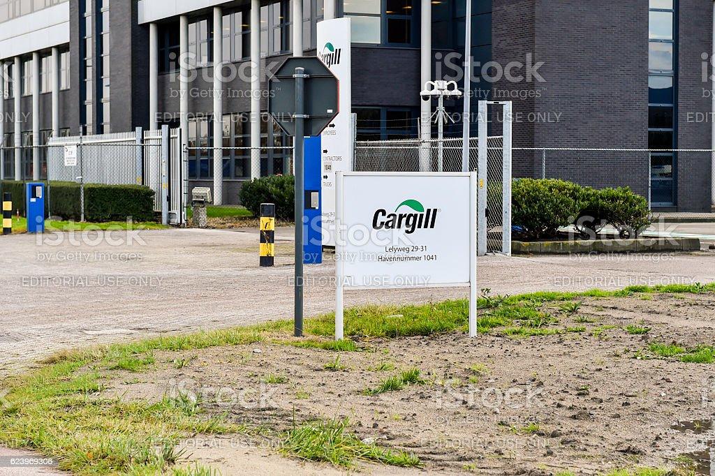 Main entrance Cargill Bergen op Zoom stock photo